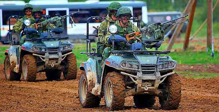 «Русский Рено» строит квадроциклы для Армии России. АМ-1 (РМ-500) Полигон Алабино