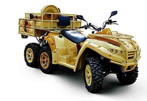 «Русский Рено» строит квадроциклы для Армии России. Мобильный Минометный Комплекс 2Б24, калибр 82мм на базе АМ-1 (РМ-500) 6х4