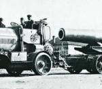 Артиллерийский тягач – генератор Austro-Daimler M16 B-Zug, C-Zug с 380-мм минометом Skoda 1916