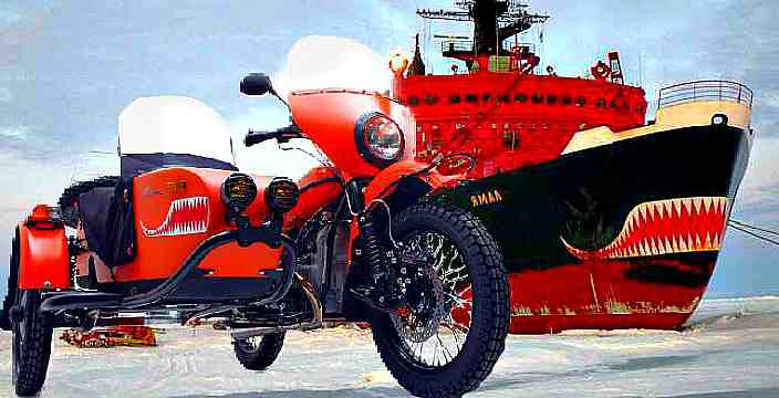 Атомный Ямал Ирбитский Мотоциклетный Завод Урал Ямал Ural Yamal мотоцикл с веслом