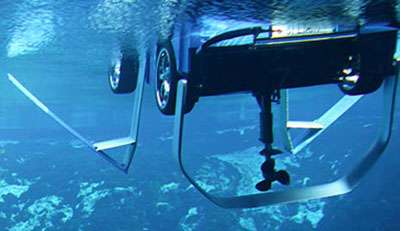 Водно-дорожный спринтер Rinspeed Splash LVH-X2, подводные крылья и винт готовы к работе