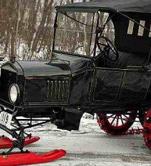 Время Т. Первый серийный снегоход на базе Ford Model T