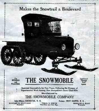 Время Т. Рекламный плакат Первого серийного снегохода на базе Ford Model T