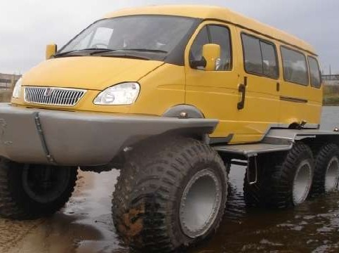 Газель на больших колесах. Газстроймашина СКБ-900