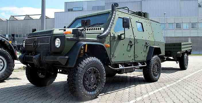 Гелендваген одели в боевую броню. Mercedes LAPV 6.1