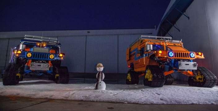 Гибридные Хаммеры на Южном полюсе