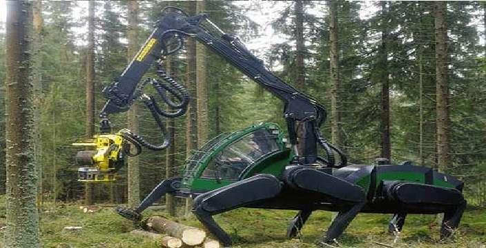 Гигантский паук ломает деревья. Harvester Aranha - Шагающий вездеход