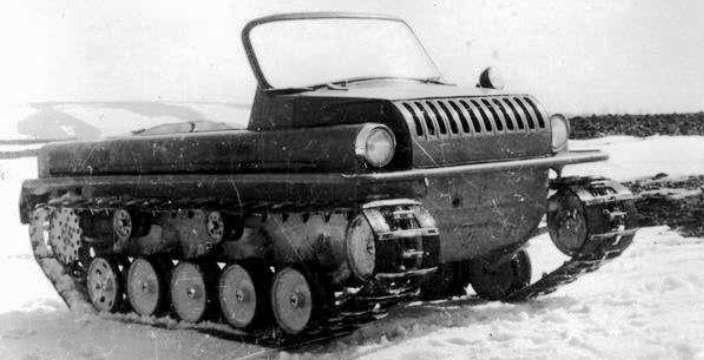 Гусеничный С-ГПИ-17 с двигателем от ГАЗ-21