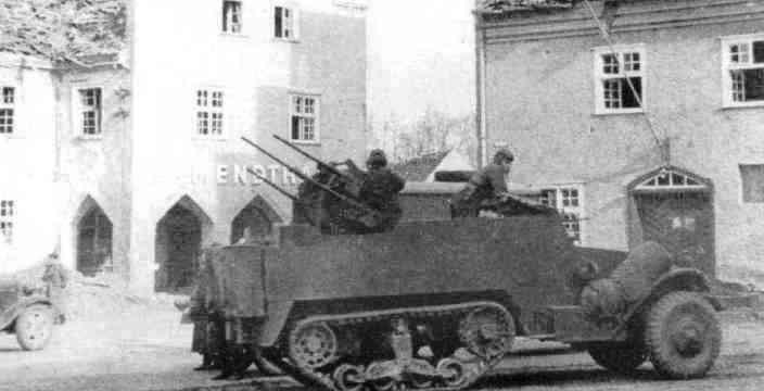ЗСУ от Янки отлично дополняли 34-ки Красной Армии. М17 в составе Советской Армии защищает Немецкий город от налетов Luftwaffe и Waffen SS