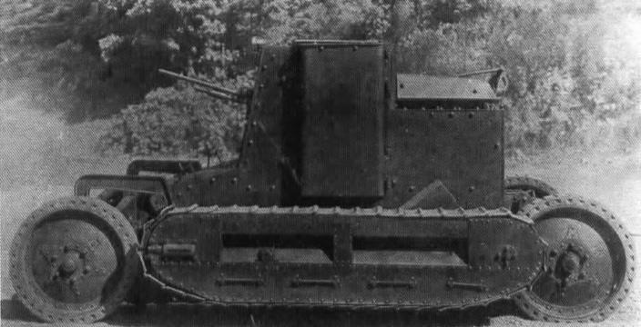 Колесно-гусеничный танк «Сен-Шамон»