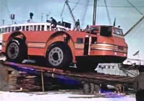 Круизёр в Антарктиде. Antarctic Snow Cruiser, разгрузка на Антарктическую землю своим ходом