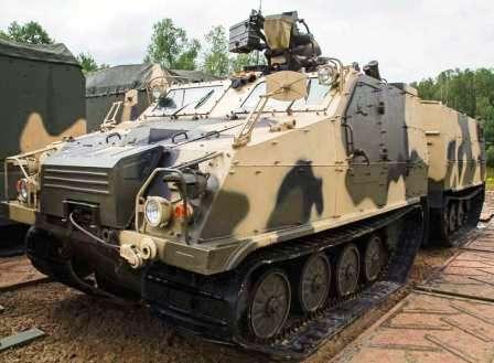 Ледоруб Рубцовский. Гусеничный бронетранспортёр ДТ-3ПБ - машина  огневой поддержки