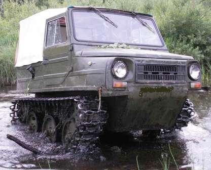 ЛуАЗ-967 - Транспортер переднего края. Гражданская версия на гусеницах