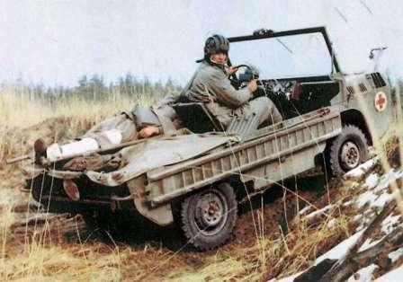 ЛуАЗ-967 - Транспортер переднего края. Санитарная машина для эвакуации раненых