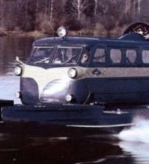Наземный вертолёт. Аэросани КА-30 на воде