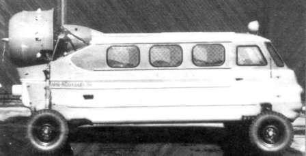 Наземный вертолёт. Аэросани КА-30 на колесах
