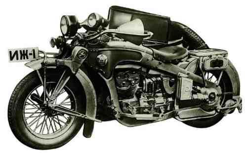 Первый Советский Мотоцикл ИЖ-1 опытный образец с V-образным двигателем 1200 см3