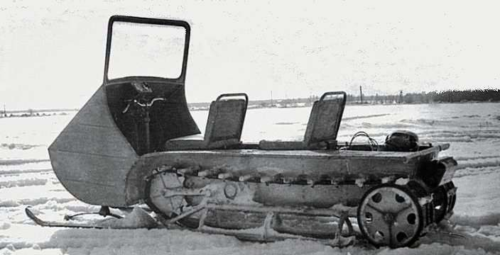 Первый снегоход СССР ГПИ-15