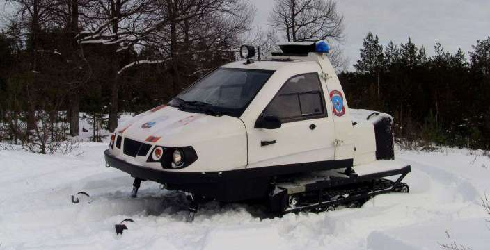 Полет Беркута. снегоход ТТМ-1901 в кузове автомобиля Ока