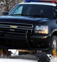 Полицейский Chevrolet Tahoe на гусеницах Track N Go