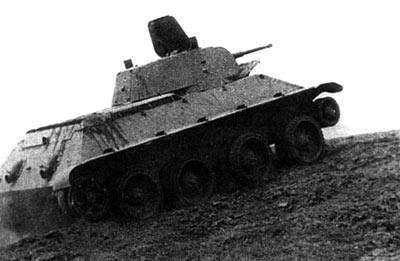 Предшественник «тридцатьчетвёрки» - Колёсно-гусеничный танк А-20 на колесах