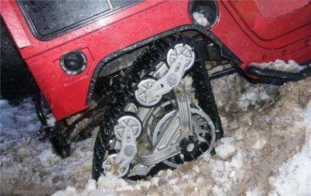 Русские реплики ВГД Mattracks. Авария, гусеничный модуль Mattracks провернуло в арку колеса.