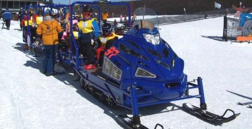 Семейство снегоходов Alpina. Alpina SHERPA 1.6L Ti-VCT 16-valve тягач для двух пассажирских саней