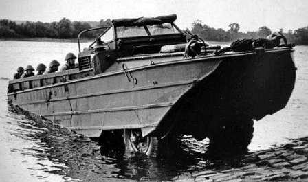 Сухопутный корабль ЗИС-485. С десантным взводом на борту