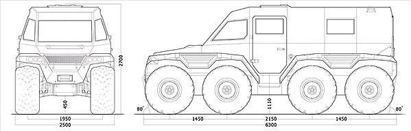 Тактико-тактико-технические характеристики вездеходов-снегоболотоходов-амфибий Шаман, снегоболотоходов MYL