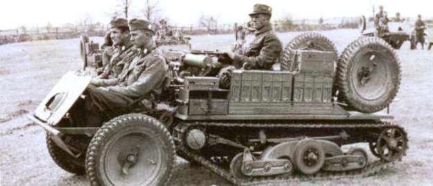 Тяни-толкай в армии. ADMK Austro Daimler в походном состоянии