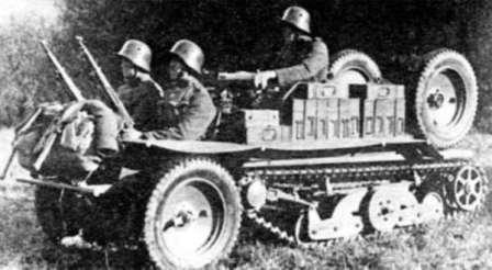 Тяни-толкай в армии. ADMK Austro Daimler полугусеничный вездеход