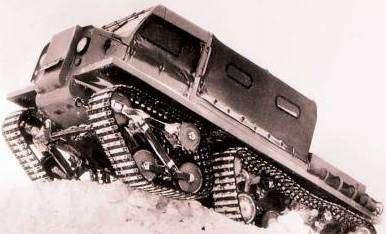 Ухтыш! ... э-т-о УАЗ. УАЗ-492 на четырех гусеницах
