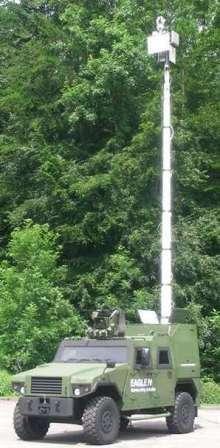 Электрические внедорожники для горной разведки Mowag Eagle IV в развернутом состоянии
