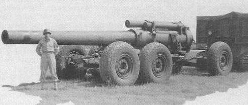 American M6 Tractor - Труженик войны, лишённый славы. М6 буксирует 240 мм Гаубицу М2А1