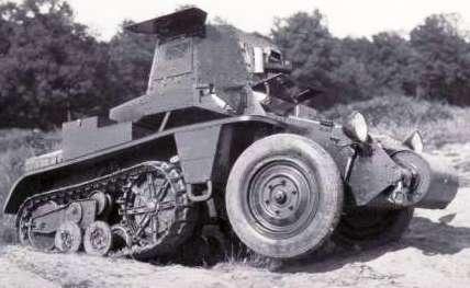 Citroen C4-P17 в 20 веке был главным гусеничным тягачом Французской армии. Броневик С4-Р-19 ВТ