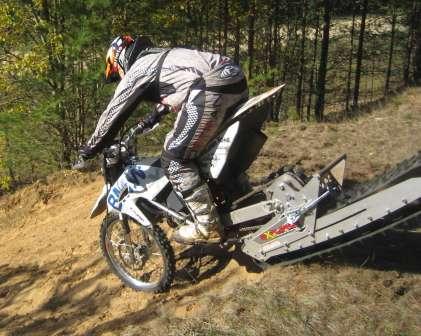 EXPLORERMOTO - проходимость везде. Тест EXPLORER на базе BMW G450X в рамках 4 мотослета MOTOTREWELS 2010 Тверская область, Лесной район. Спуск по песку