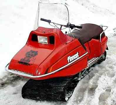 FlexTrac - Finncat - моногусеничный снегоход Finncat повернул гусеницу