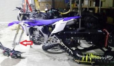 Frozenmoto гусеница для мощных мотоциклов