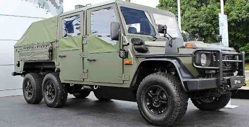 G-Wagon 6x6 одели в боевую броню. Mercedes LAPV 6.1 Pickup