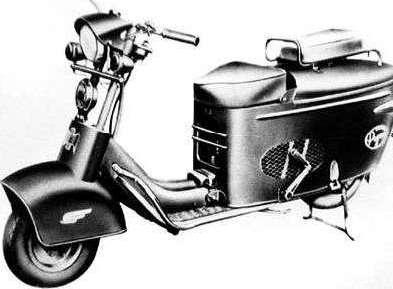 Mitsubishi Motors делили на 40. Мотороллер Mitsubishi Silver Pigeon 1949