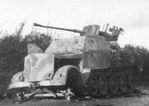Sd.Kfz. 7 средний армейский тягач вермахта уничтожен Войсками Красной Армии