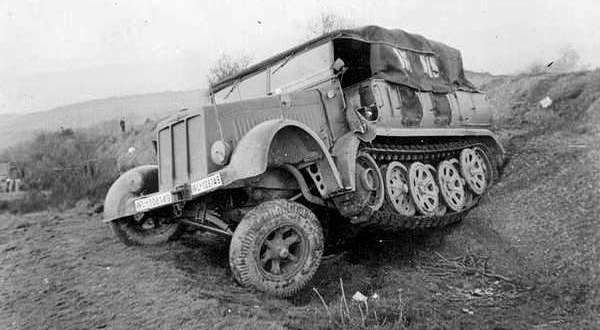 Sd.Kfz. 7 средний армейский тягач вермахта